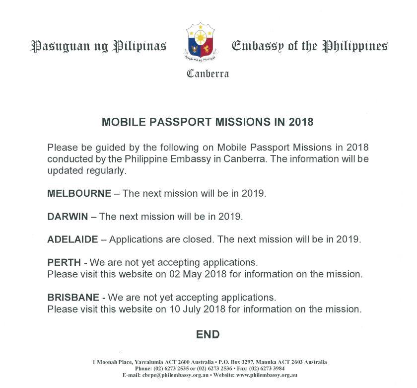 Passport   Philippine Embassy of Canberra Australia